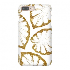 iPhone 8/7 plus  Monstera Gold by  (graphic, other, monstera, tropical, pattern, exotic, nature, leaves, gold, sparkle, golden, holiday)