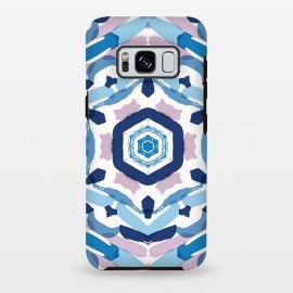 Galaxy S8 plus  Blue Kaleidoscope Mandala by