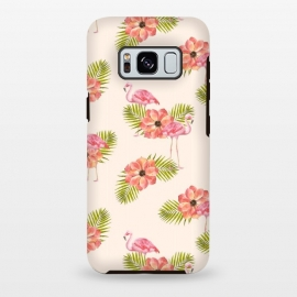Galaxy S8 plus  Flamingo and Floral Pattern by