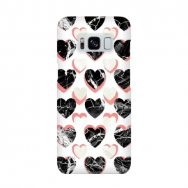 Marble 3d romantic hearts pattern  by Oana