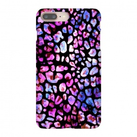 Blue purple magenta leopard print by Oana