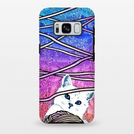 Galaxy S8 plus  Kitten playing with yarn and gradient marble by