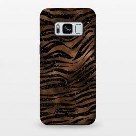 Galaxy S8 plus  Jungle Journey - Copper Safari Tiger Skin Pattern  by