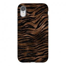 iPhone Xr  Jungle Journey - Copper Safari Tiger Skin Pattern  by