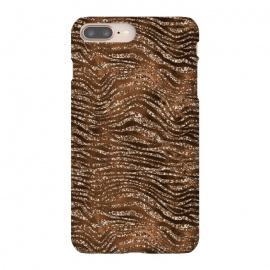 Jungle Journey - Copper Safari Tiger Skin Pattern 1 by Utart