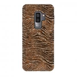 Galaxy S9 plus  Jungle Journey - Copper Safari Tiger Skin Pattern 1 by  (tiger,animal,nature,wild,safari,africa,hunting,animals,modern,fresh,girly,trend,utart,metallic,metal,glitter,glamour,women,feminine,trendy,chic,natural,wilderness,tropic,fur,strokes,stripes,sparkle,shiny,luxury,glowing,glow,effect,glittering,shimmer,magic,fesitve,gelam,blink,blur,blurred,glossy)