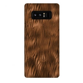 Galaxy Note 8  Jungle Journey - Copper Safari Tiger Skin Pattern 2 by