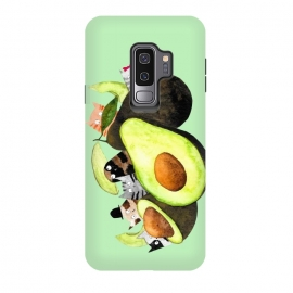 Galaxy S9 plus  AvoGatos by  (cats,avocados,cat,cat lover,foodie,green,food and drink)