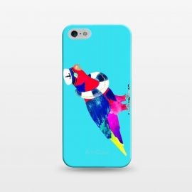 iPhone 5/5E/5s  The Rogue sailor   by  (sailor,bird,lorikeet,parrot,tropical,watercolor,nautical,birds)