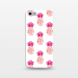 iPhone 5/5E/5s  Hala Kahiki Pink Pattern  by  (pink,pineapple,pattern,pineapple pattern,hawaii,tropical)