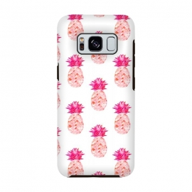 Hala Kahiki Pink Pattern  by Amaya Brydon (pink,pineapple,pattern,pineapple pattern,hawaii,tropical)