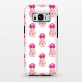 Galaxy S8 plus  Hala Kahiki Pink Pattern  by  (pink,pineapple,pattern,pineapple pattern,hawaii,tropical)