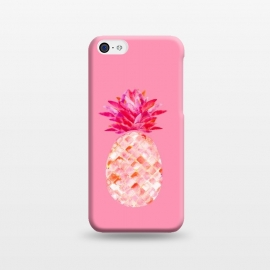 Hala Kahiki Pink by Amaya Brydon (pineapple,fruit,tropical,hawaii,pink)