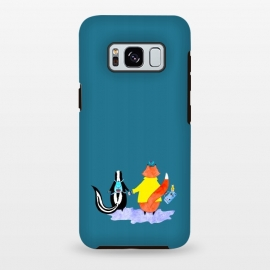 Galaxy S8 plus  First Day Of School by  (friends,skunk,animals,kids,fox,birds,mouse,illustration)