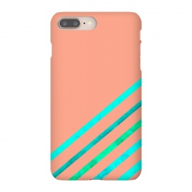 Peach Stripes by Amaya Brydon (stripes,geometric,stripe,peach,aqua,minimal)