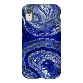 Indigo blue agate marble art by Oana