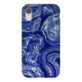 iPhone Xr  Metallic indigo blue marble by