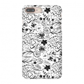 Stylish abstract brush strokes and floral doodles design by InovArts