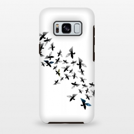 Galaxy S8 plus  Origami Birds by  (birds,crane,bird,origami,black and white,nature)