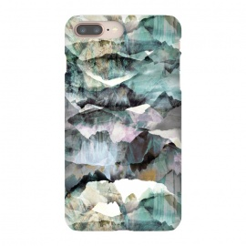 iPhone 8/7 plus  Painted marble mountains gemstones by