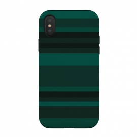 iPhone Xs / X  Green Stripes by