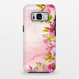 Galaxy S8 plus  Handpainted spring flowers tendril by