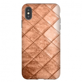 iPhone Xs Max  Rose Gold Crush by  (other, color, copper, rose, gold, exotic, metallic, geometrical, squares)