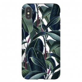 Rubber & Glue by Uma Prabhakar Gokhale (graphic, rubber, leaves, pattern, exotic, tropical, botanical, nature, green, plant)
