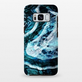 Galaxy S8 plus  Textured dark blue agate marble by