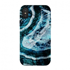 iPhone Xs / X  Textured dark blue agate marble by
