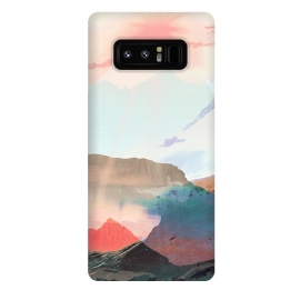Galaxy Note 8  Gradient painted mountain landscape by