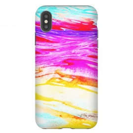 Colorful tie dye painted waves by Oana