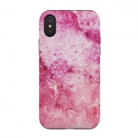 iPhone Xs / X  Pink fuchsia elegant marble by