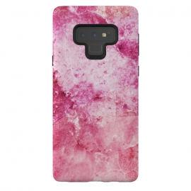Galaxy Note 9  Pink fuchsia elegant marble by