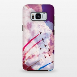 Galaxy S8 plus  Red purple airplane air show by