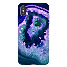 Blue Ocean Agate Marble Mobile cover  by Josie George