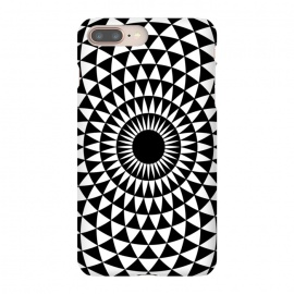 3d illusion mandala geometric black triangle patterns  by Josie George