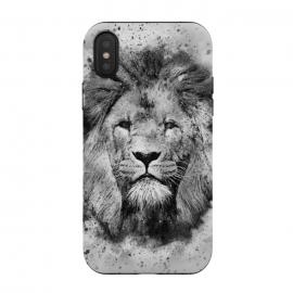 iPhone Xs / X  Lion Braveheart Black and white watercolour artwork by