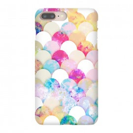 Colorful watercolor splattered seashells pattern by Oana