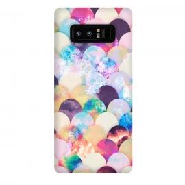 Galaxy Note 8  Watercolor splattered seashell pattern by