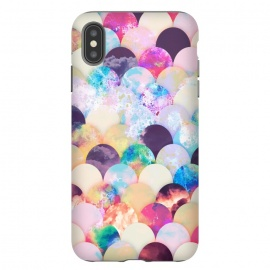 Watercolor splattered seashell pattern by Oana
