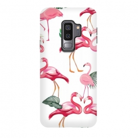 Galaxy S9 plus  Flamingos Love Pattern by
