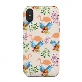 iPhone Xs / X  Flamingo Garden by