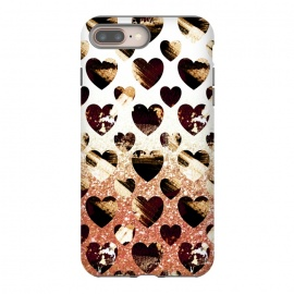 Golden animal print spotted hearts by Oana