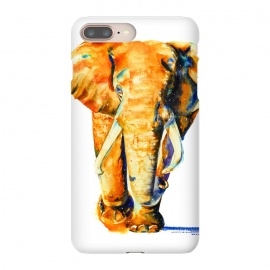 Elephant. Watercolor design. by Elena Terzi