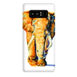 Galaxy Note 8  Elephant. Watercolor design. by