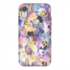 iPhone Xr  Watercolor splattered stylised pansy by