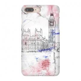 iPhone 8/7 plus  Big Ben London white pink sketch by