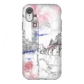 iPhone Xr  London's Big Ben line art travel sketch by