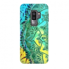 Galaxy S9 plus  Colorful tie dye mandala petals and feathers by